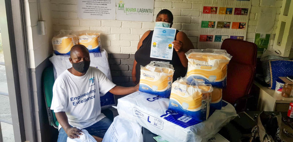 Donation to old age home